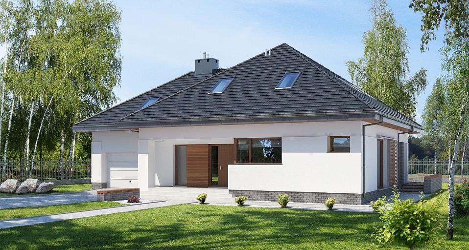 Projekt domu Kompaktowy dom z poddaszem E-143