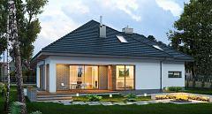 Projekt domu E-143 Kompaktowy dom z poddaszem