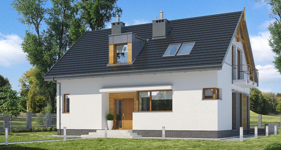 Projekt domu Mały dom z poddaszem E-160