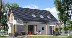 Projekt domu E-160 Mały dom z poddaszem