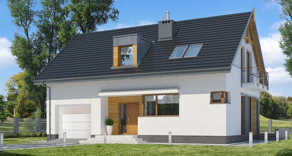 Projekt domu Niewielki dom z garażem E-159