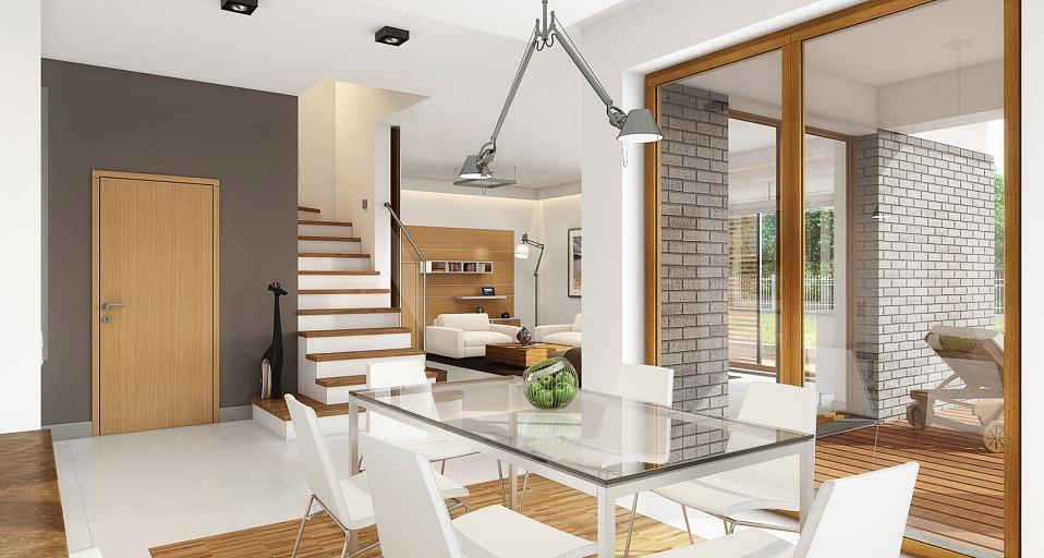 Projekt domu E-158 Dom z gabinetem i 4 sypialniami