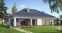 Projekt domu E-152 Dom parterowy z trzema sypialniami