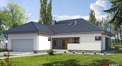 Projekt domu E-153 Komfortowy dom parterowy