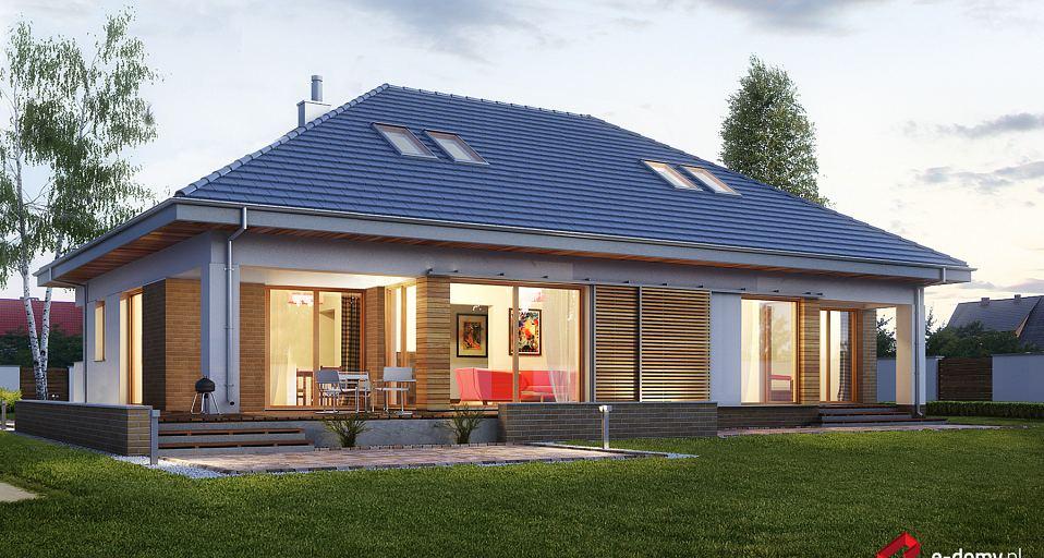 Projekt domu E-156 Parterowy dom z 2 sypialniami