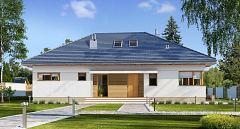 Projekt domu E-154 Dom parterowy bez garażu