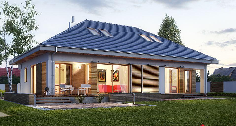 Projekt domu Dom parterowy bez garażu E-154