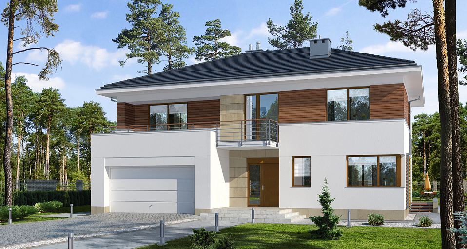Projekt domu Mała rezydencja E-150