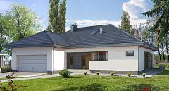 Projekt domu E-151 Duży dom parterowy