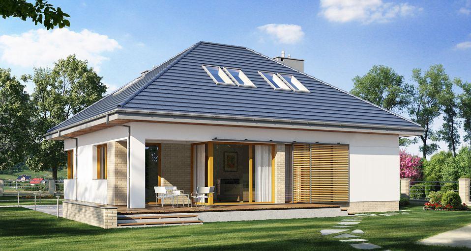 Projekt domu Dom z gabinetem od frontu E-165