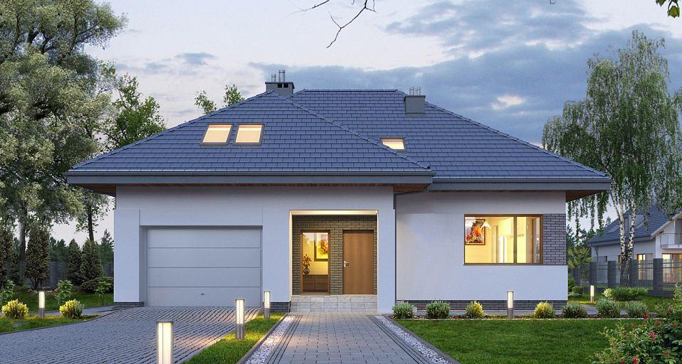 Projekt domu Dom z pokojem od frontu E-168