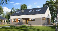 Projekt domu E-172 Z prostym dachem bez garażu
