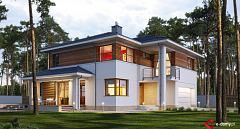 Projekt domu E-166 Dom z wejściem od południa