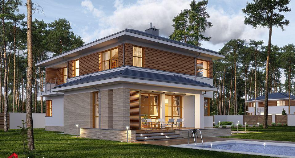 Projekt domu Dom z wejściem od południa E-166