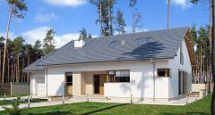Projekt domu E-170 Niewielki dom z garażem