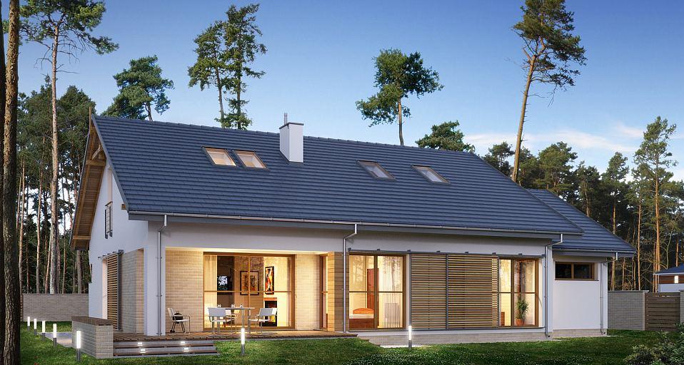 Projekt domu Niewielki dom z garażem E-170