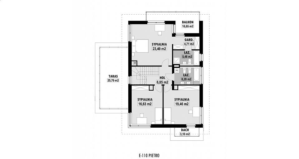 Projekt domu E-110 Dom o charakterze rezydencjonalnym