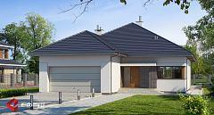 Projekt domu E-181 Duży dom parterowy