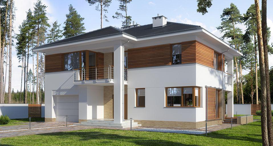 Projekt domu Rezydencja z garażem E-178