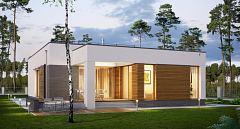 Projekt domu E-182 Dom parterowy z płaskim dachem
