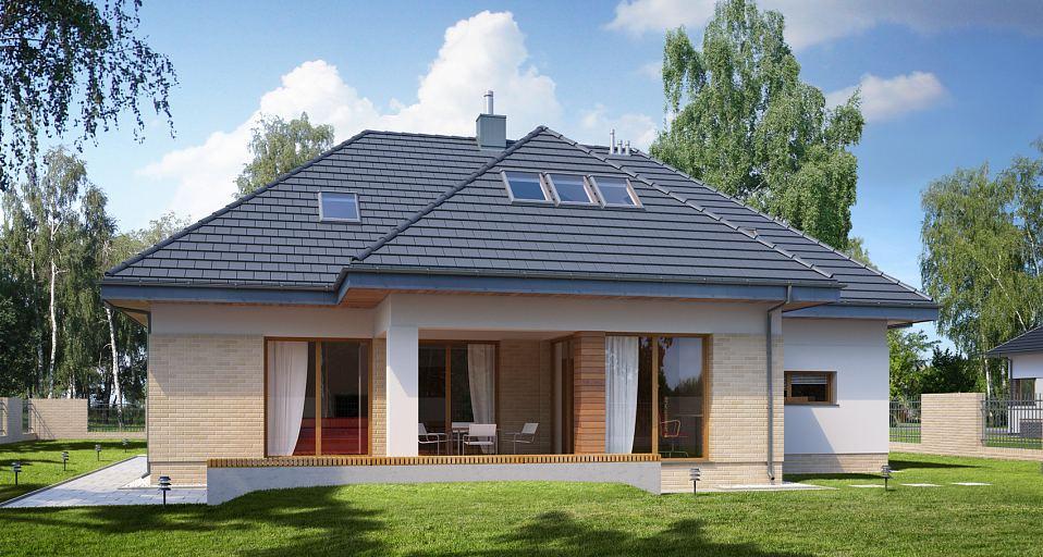 Projekt domu Symetryczny tradycyjny dom E-190
