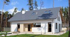 Projekt domu E-185 Mały dom parterowy