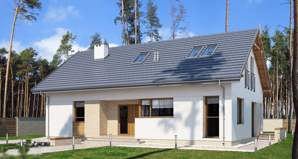 Projekt domu Mały dom parterowy E-185