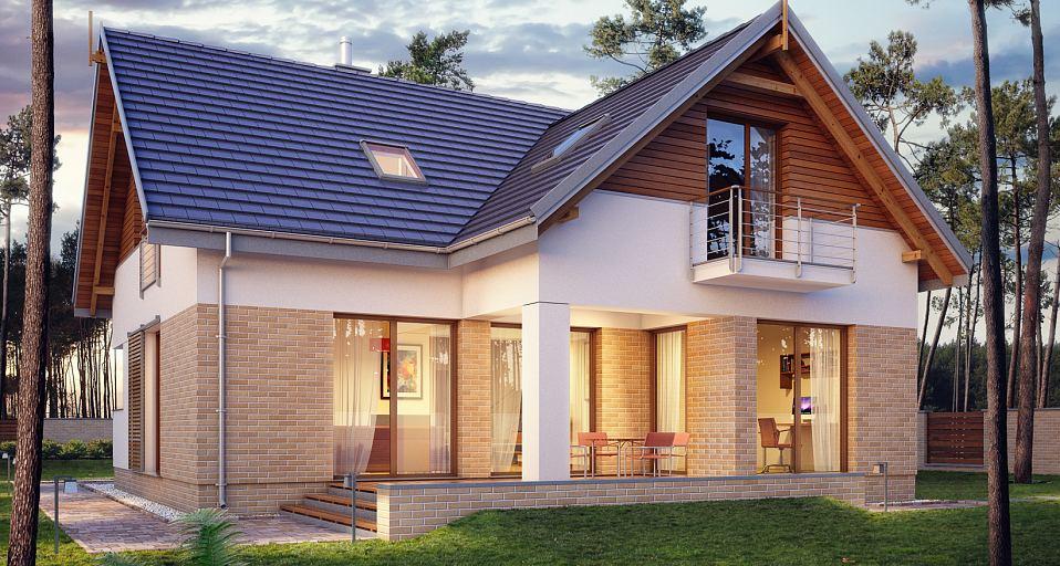 Projekt domu Mały dom bez garażu E-192