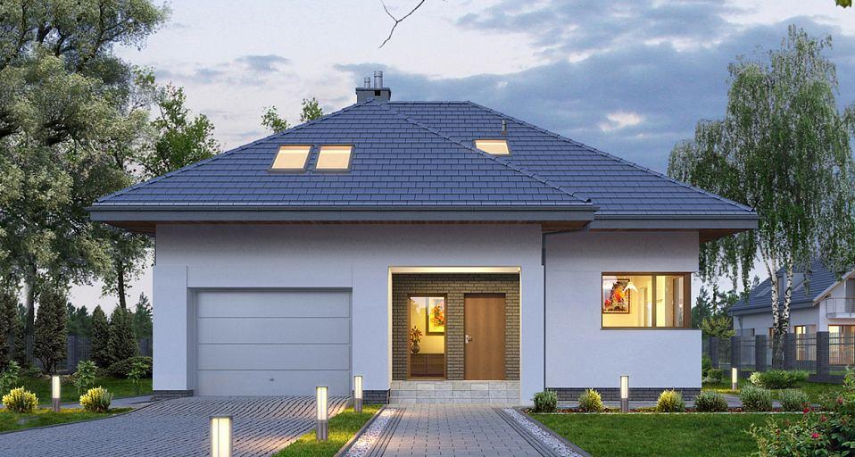 Projekt domu E-188 Mały dom z poddaszem