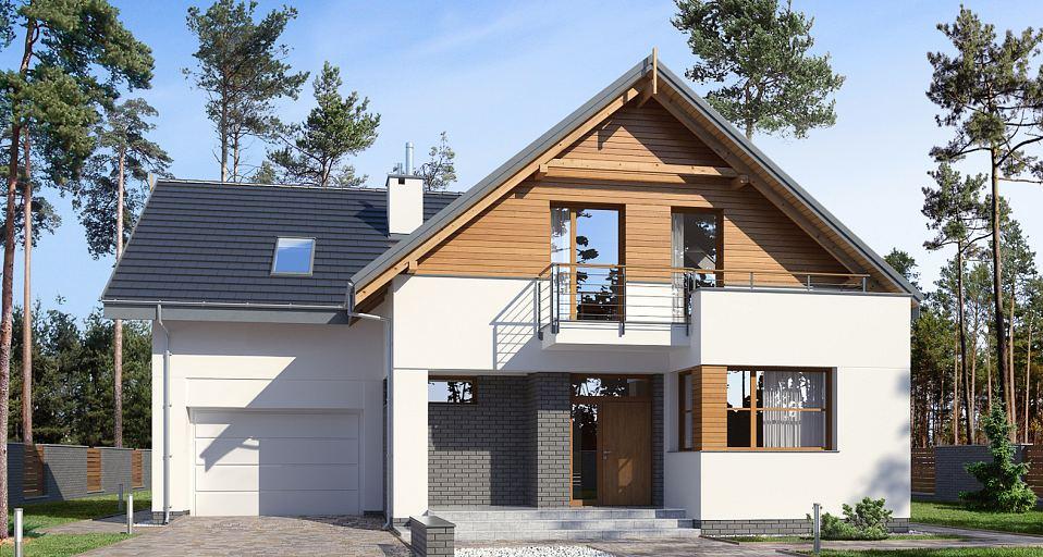 Projekt domu Dom z 3 sypialniami E-199