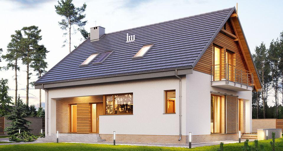 Projekt domu Mały dom na wąskie działki E-194