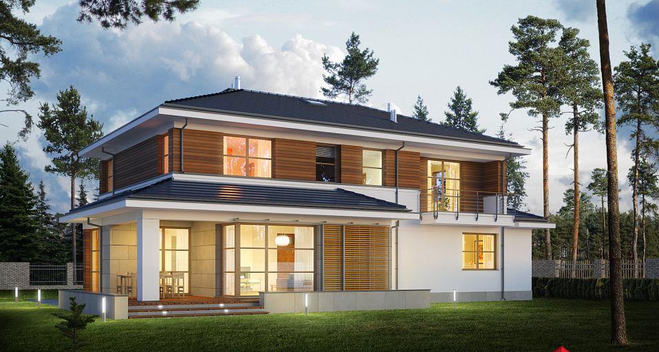 Projekt domu Rezydencja dla licznej rodziny E-186
