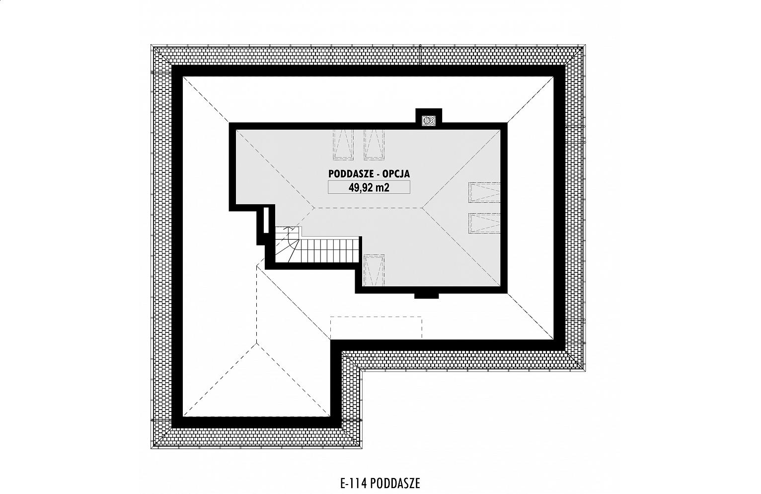 E 114 Mały Dom Parterowy Z Garażem Dwustanowiskowym E Domy