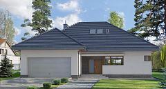 Projekt domu E-134 Dom z poddaszem użytkowym