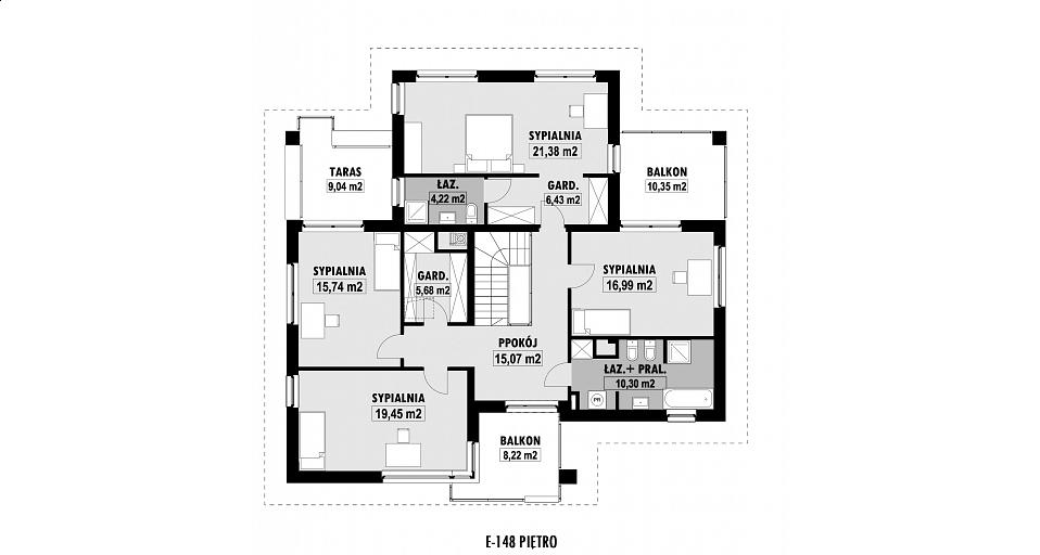 Projekt domu E-148 Projekt dużej rezydencji