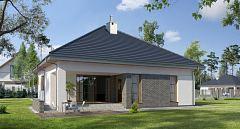 Projekt domu E-140 Dom z poddaszem, na wąską działkę