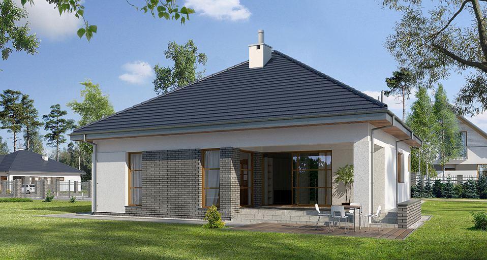 Projekt domu Dom z poddaszem, na wąską działkę E-140