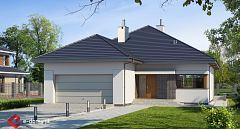 Projekt domu E-141 Mały dom z opcją poddasza