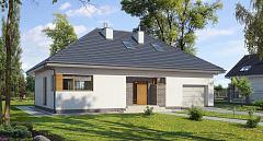 Projekt domu E-117 Dom z antresolą