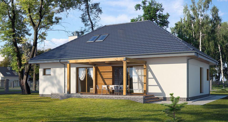 Projekt domu Dom z antresolą E-117