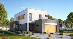 Projekt domu E-204 Nowoczesny dom piętrowy