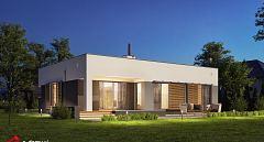 Projekt domu E-144 Dom parterowy z dużym garażem