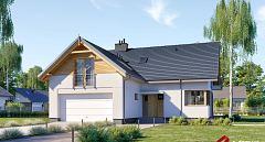 Projekt domu E-214 Dom na wąską działkę