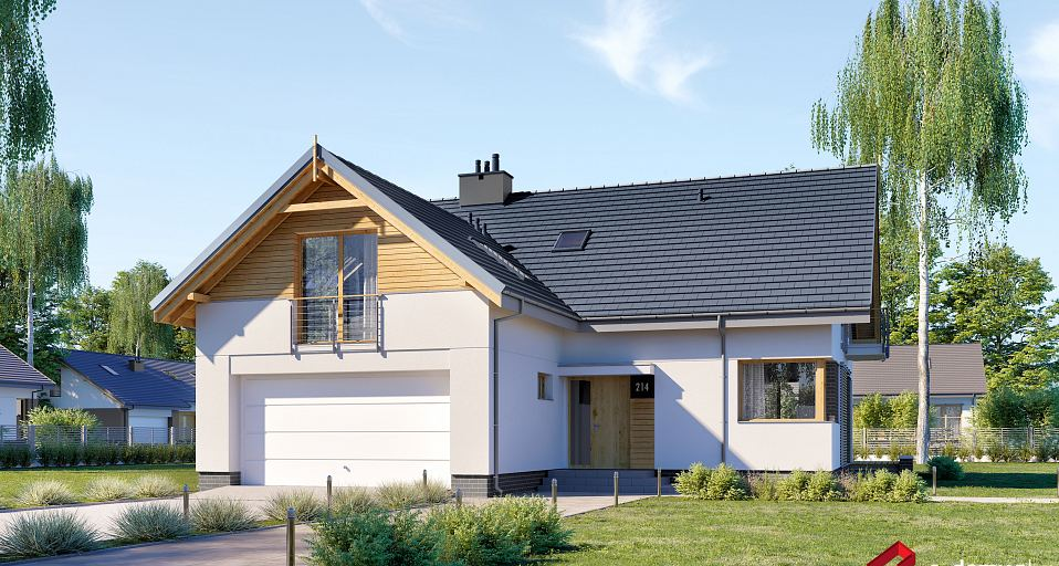 Projekt domu Dom na wąską działkę E-214