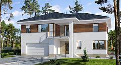 Projekt domu E-219 Rozbudowana rezydencja