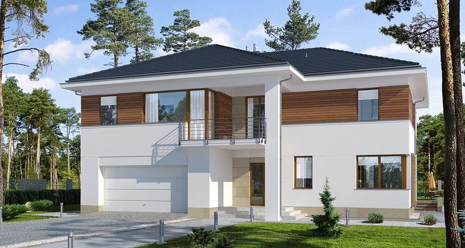Projekt domu Rozbudowana rezydencja E-219