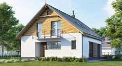 Projekt domu E-213 Mały dom z 4 sypialniami