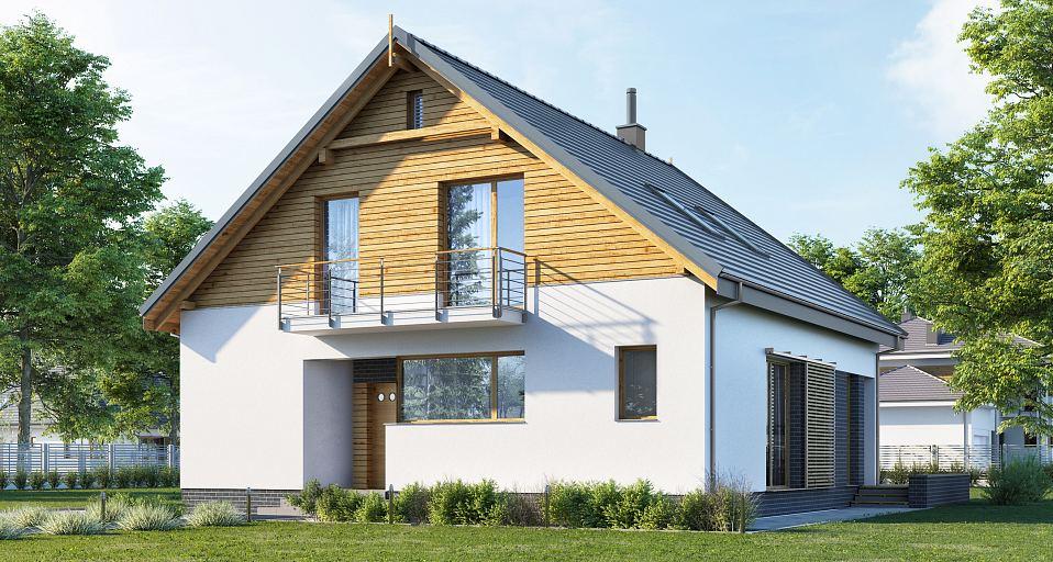 Projekt domu Mały dom z 4 sypialniami E-213