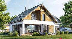 Projekt domu E-216 Kompaktowy dom dwuspadowy