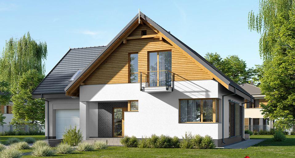 Projekt domu Zwarty dom z 5 pokojami E-208